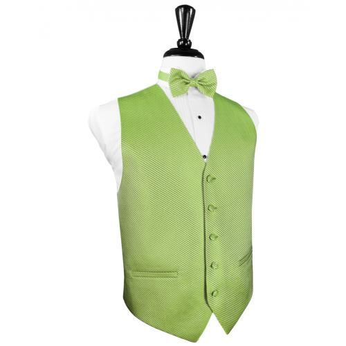 Lime Green Tuxedo Vest | Venetian Fabric | On Sale Now!