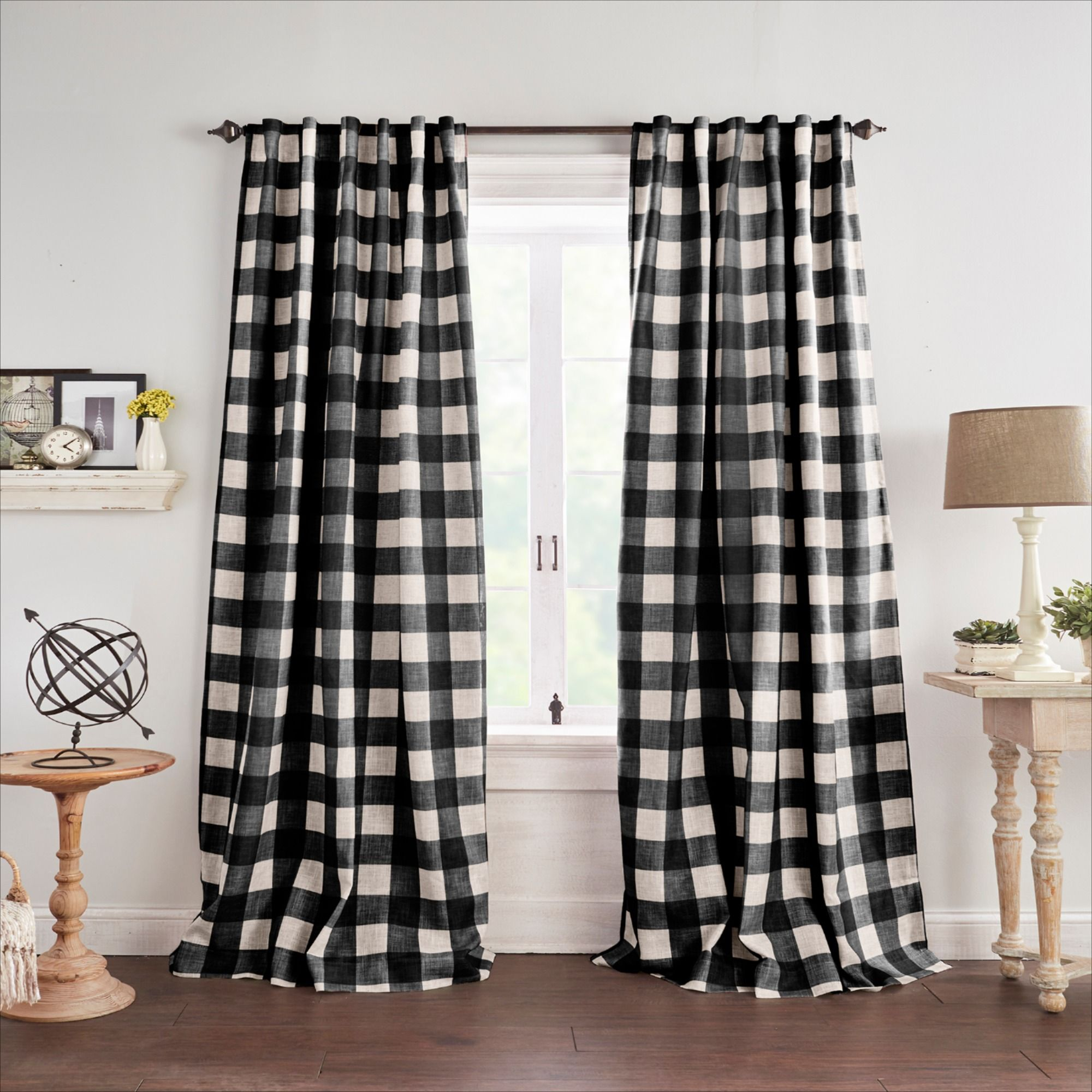 The Grainger Curtains Feature A Distressed Buffalo Check On A Linen Blend Ground These Stylish Window Panels Offer Blackout Benefits A Rich Texture An In 2020 Curtains
