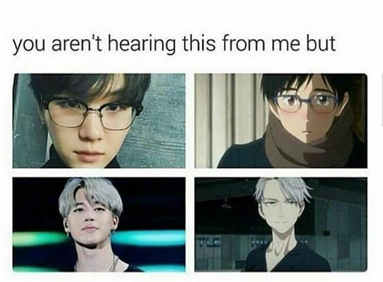 Photo of Bruhhhh I always though that Jimin looks like Victor with his silver hair but I …