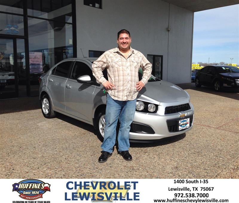 Congratulations to Pancho Ramirez on your #Chevrolet #Sonic purchase from Henry Boyd at Huffines Chevrolet Lewisville! #NewCar