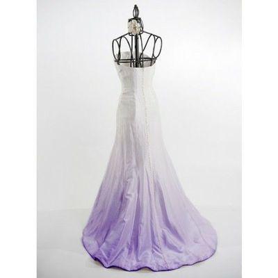 Purple Ombre Wedding Dress Ombre Dye In Purple Wedding Dress