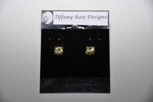 Cristal Earrings in Yellow by Tiffany Rose Designs