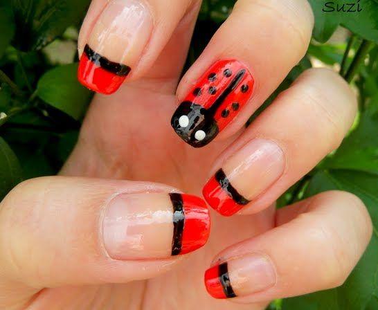 Ladybug Nail Design Nail Designs Pinterest Ladybug Ladybug