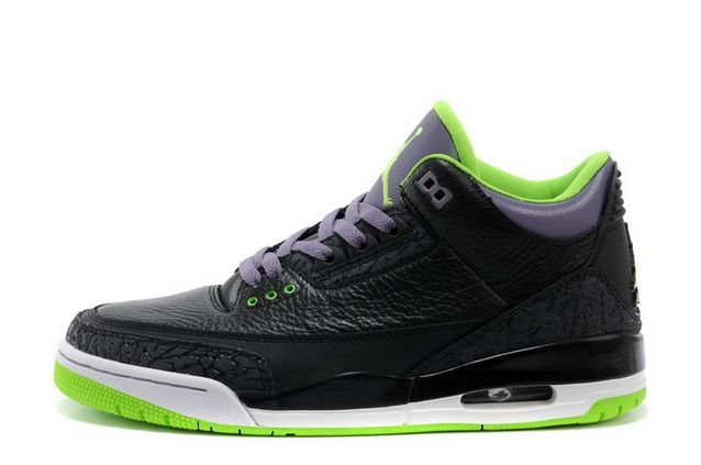 9013679774a3 official store jordan retro 3 black and green 7104c f33d8