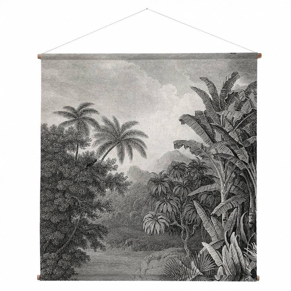 Image result for textile jungle landscapes Jungle wall