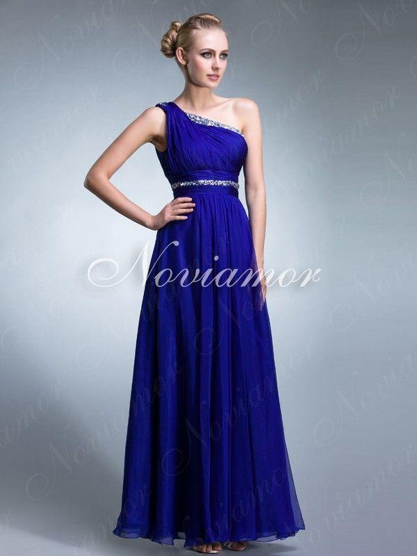 azul vestido solo hombro de fiesta, me gusta mucho Gown, attire ...