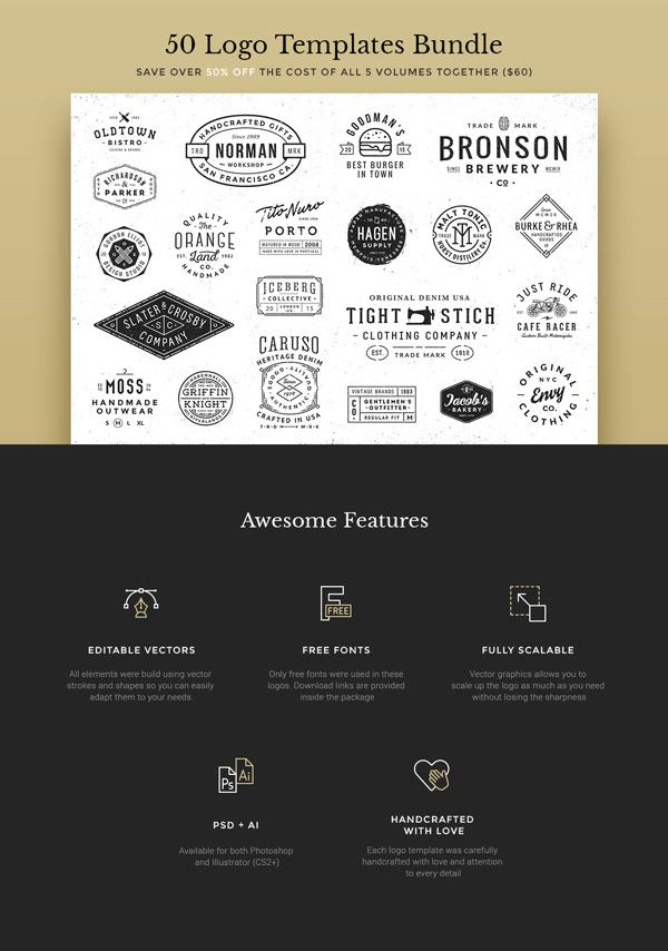 Editable vectors, free fonts, fully scalable, PSD and AI files, all graphics handcrafted with love.