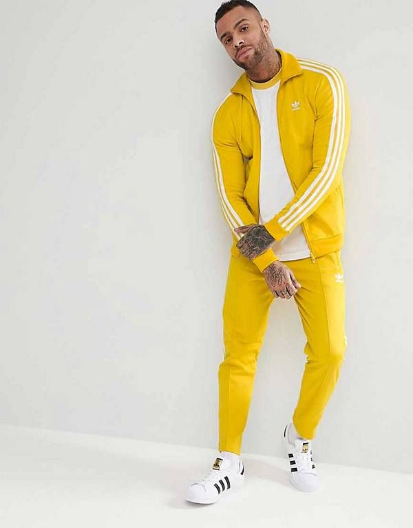 uk availability 81541 f0759 adidas Originals adicolor Beckenbauer Tracksuit in Yellow