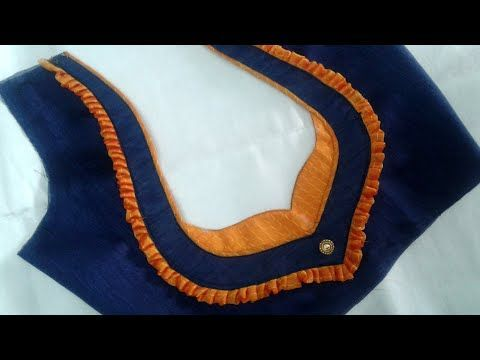 latest blouse back neck designs - YouTube #blousedesigns