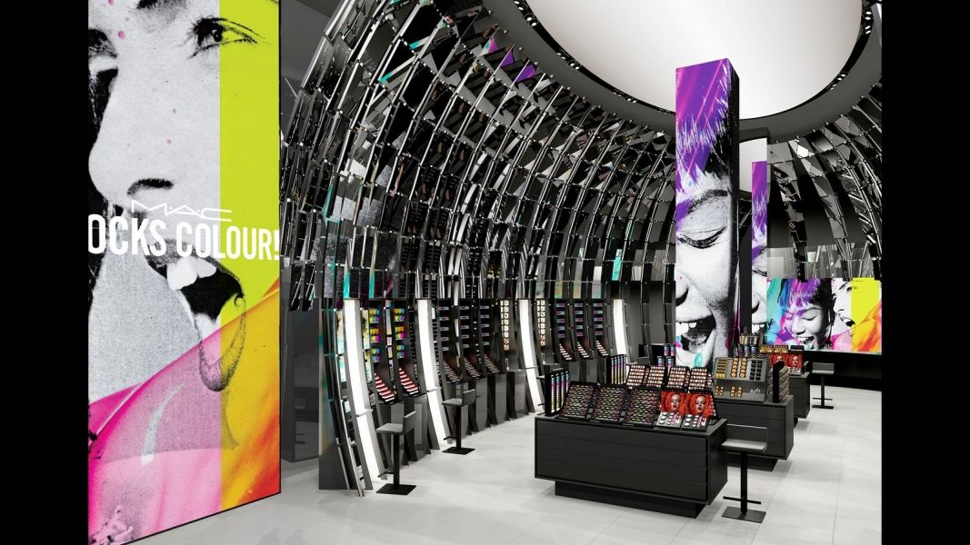 Cosmetics brand MAC has opened a Scifi style flagship on
