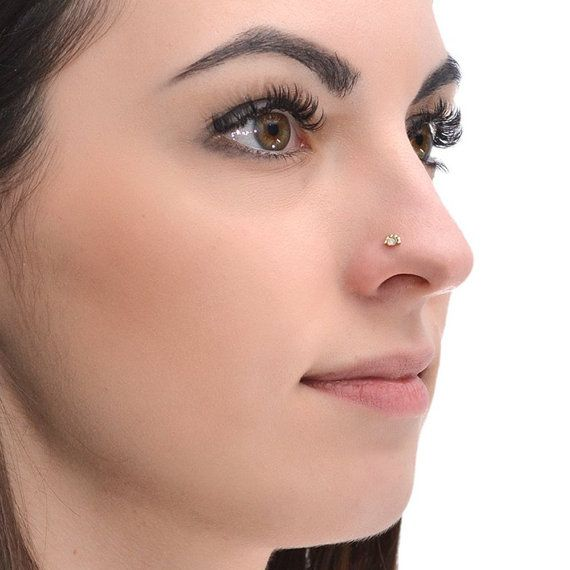 Gold Nose Stud With 2mm Opal 20g Nose Hoop Tragus Stud Helix Stud Cartilage Stud Nose Ring Stud Nose Screw Tragus Earring Forward Helix Earrings Gold Nose Stud Nose Stud