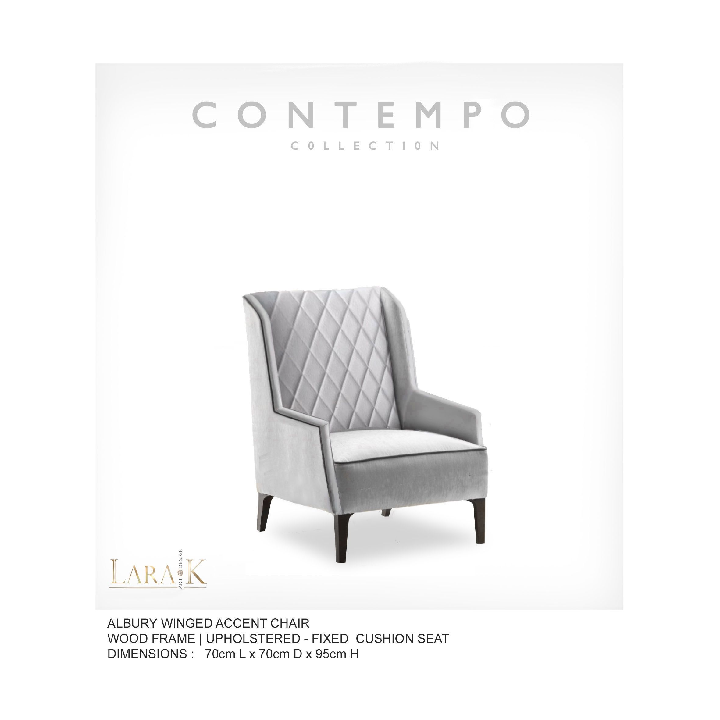 Lr Albury Wing Accent Arm Chair The Contempo Collection Was