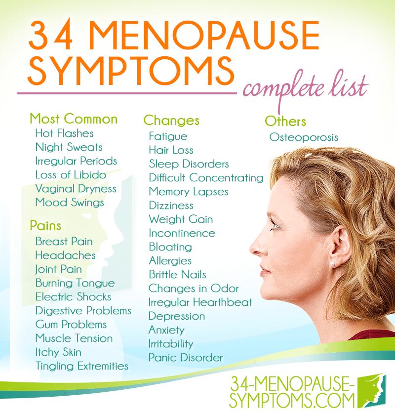 pre menopauze symptomen