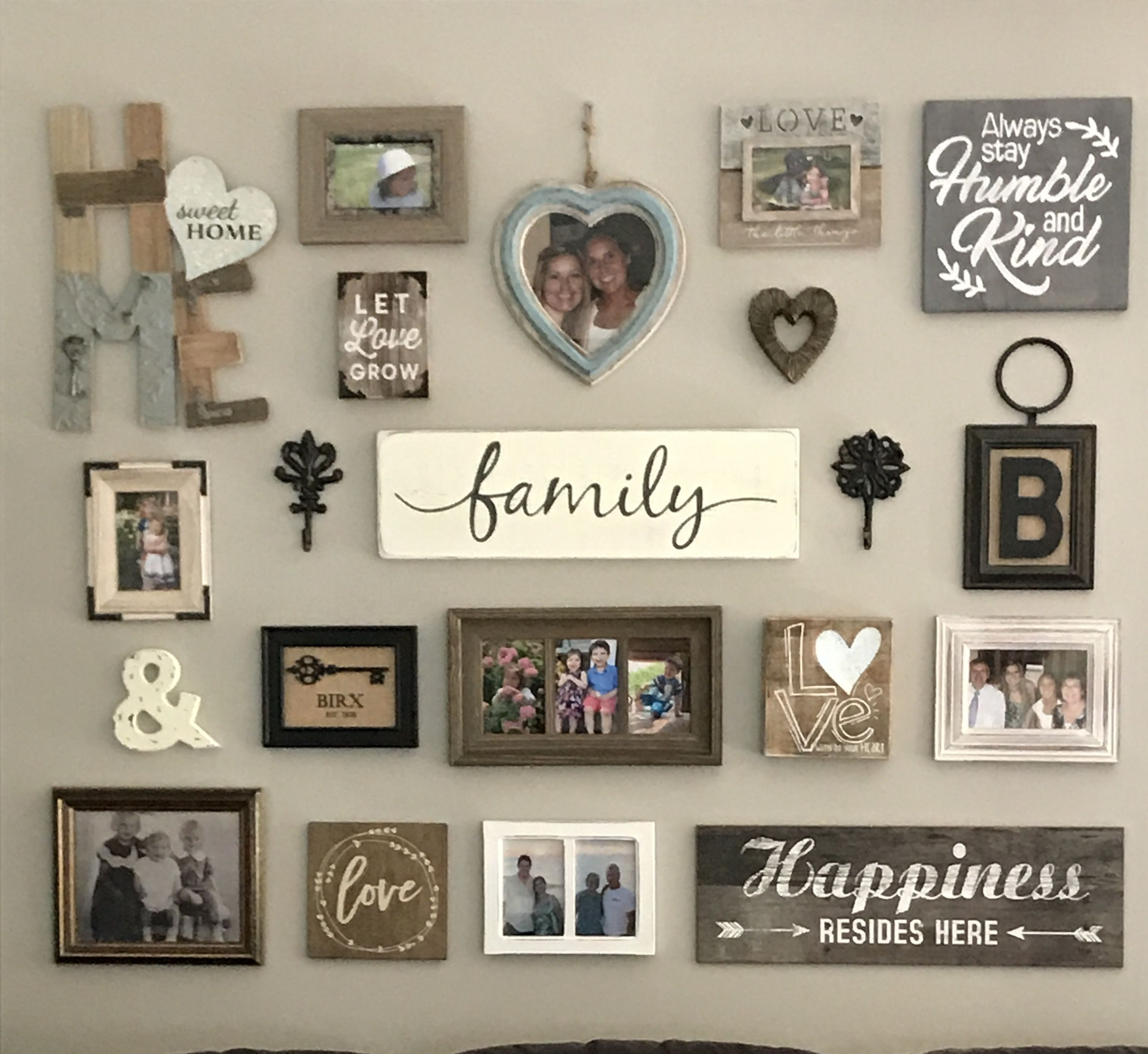 Gallery Wall Gallery Wall Living Room Rustic Gallery Wall Family Wall Decor