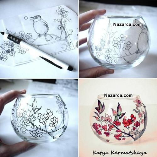 Cam Fanus Boyama Cam Boyama Faux Stained Glass Glass Art Ve