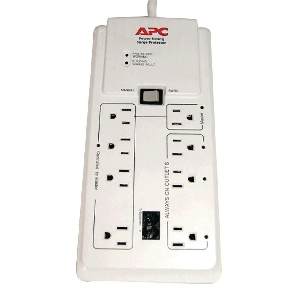 Apc Surgearrest Home Office P8gt 8 Outlets Surge Suppressor Ignore No Existing Value Apc Save Energy