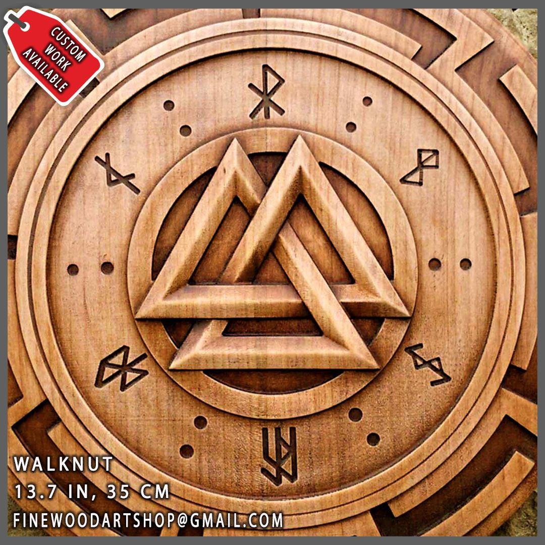 Walknut Viking Symbol Plaques Home Decor Art Norse Thor