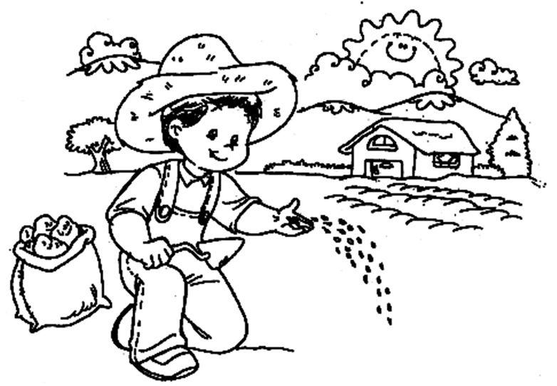 Imágenes para Pintar - El Día del Campesino | Educación | Pinterest ...
