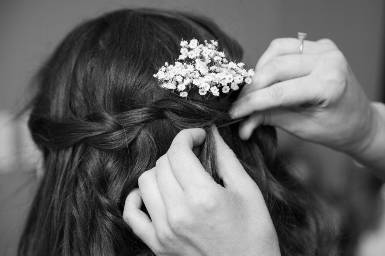 A Lovely Hairstyle For A Lovely Wedding Wedding Hair Flowers