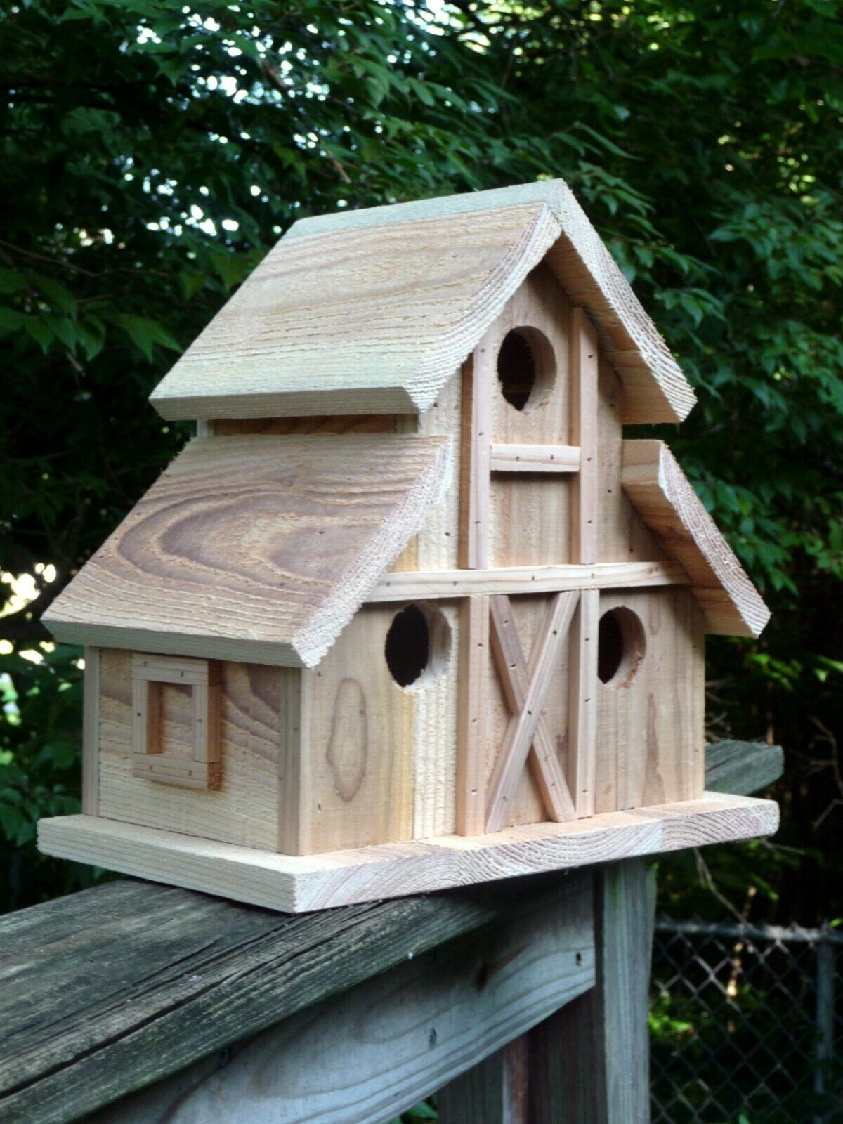 Birdhouse. Folk art primitives 3 nest bird house. Barn dollhouse display. | eBay #birdhouses