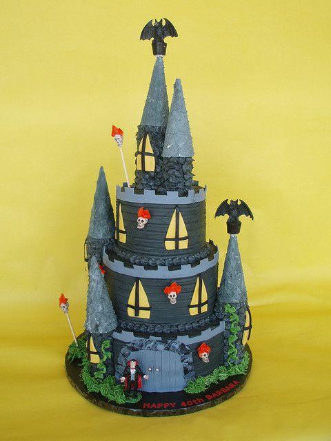 Haunted Castle Cake Castle Cake Halloween Sweets Halloween Cakes