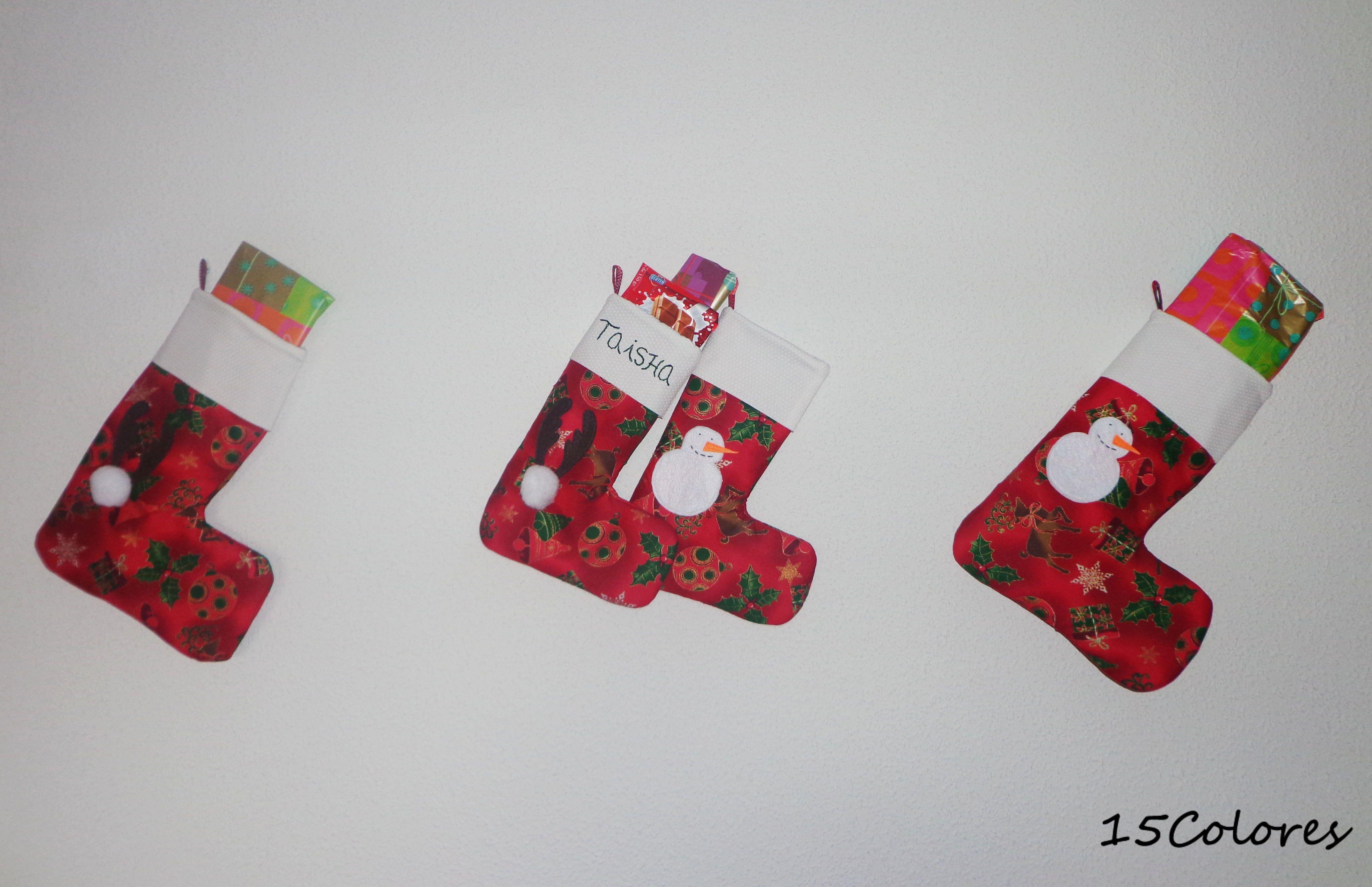 Colección de botas de navidad de color rojo personalizadas con el ...