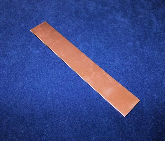 Copper Sheet 18ga 6 In X 1 In 1 02mm Thick Copper Sheets Copper Hammered Copper
