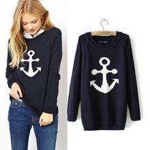 Suéter azul marino de moda 20143  411db5f171f