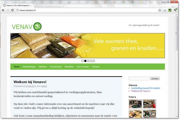 Venavo reform (website door Vlot & Goed)