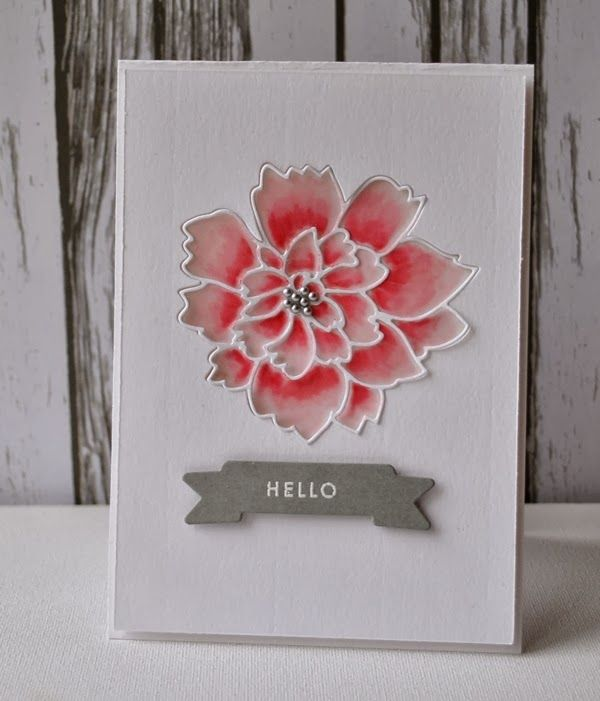 Attractive Card Making Ideas Using Vellum Part - 13: Flower Cards · Lovely Peony Outline U0026 Background - Using Vellum, Inks U0026  White Distress Marker