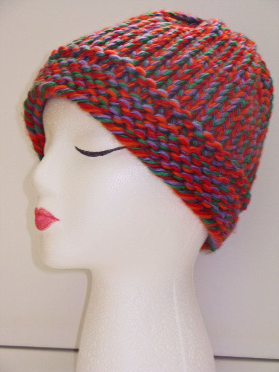 Adult Size Circus Knit Hat by ToOurMoonAndBack on Etsy, $25.00