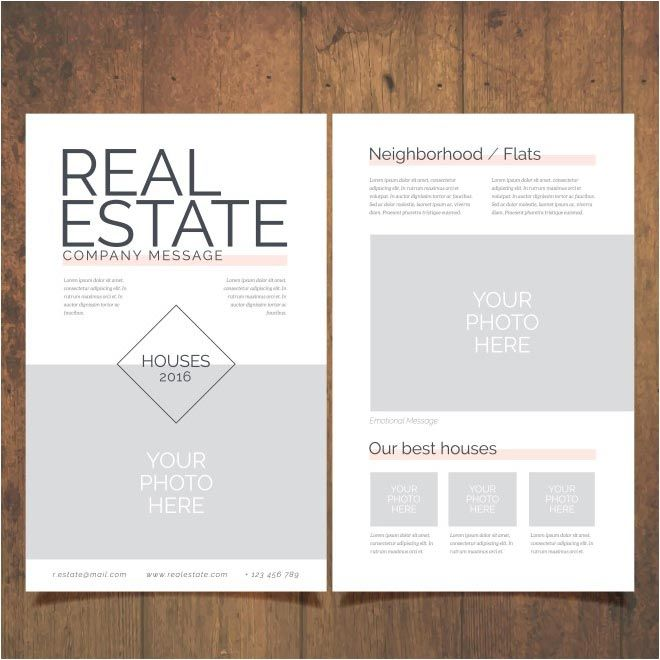 Free Vector Real Estate Brochure HttpWwwCgvectorComFree