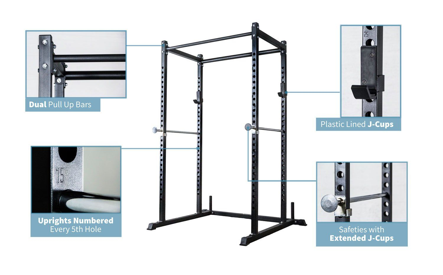 Rep Short Power Rack Pr 1050 With Adjustable Bench Ab 3000 And