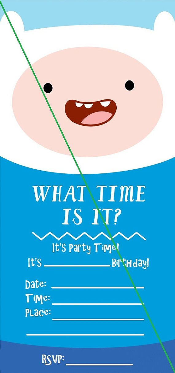 Adventure Time Invitations Kids will love to send these to their