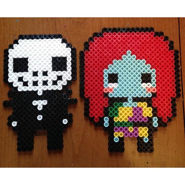 Nightmare Before Christmas perler beads by ghibligirl95 | Perler ...