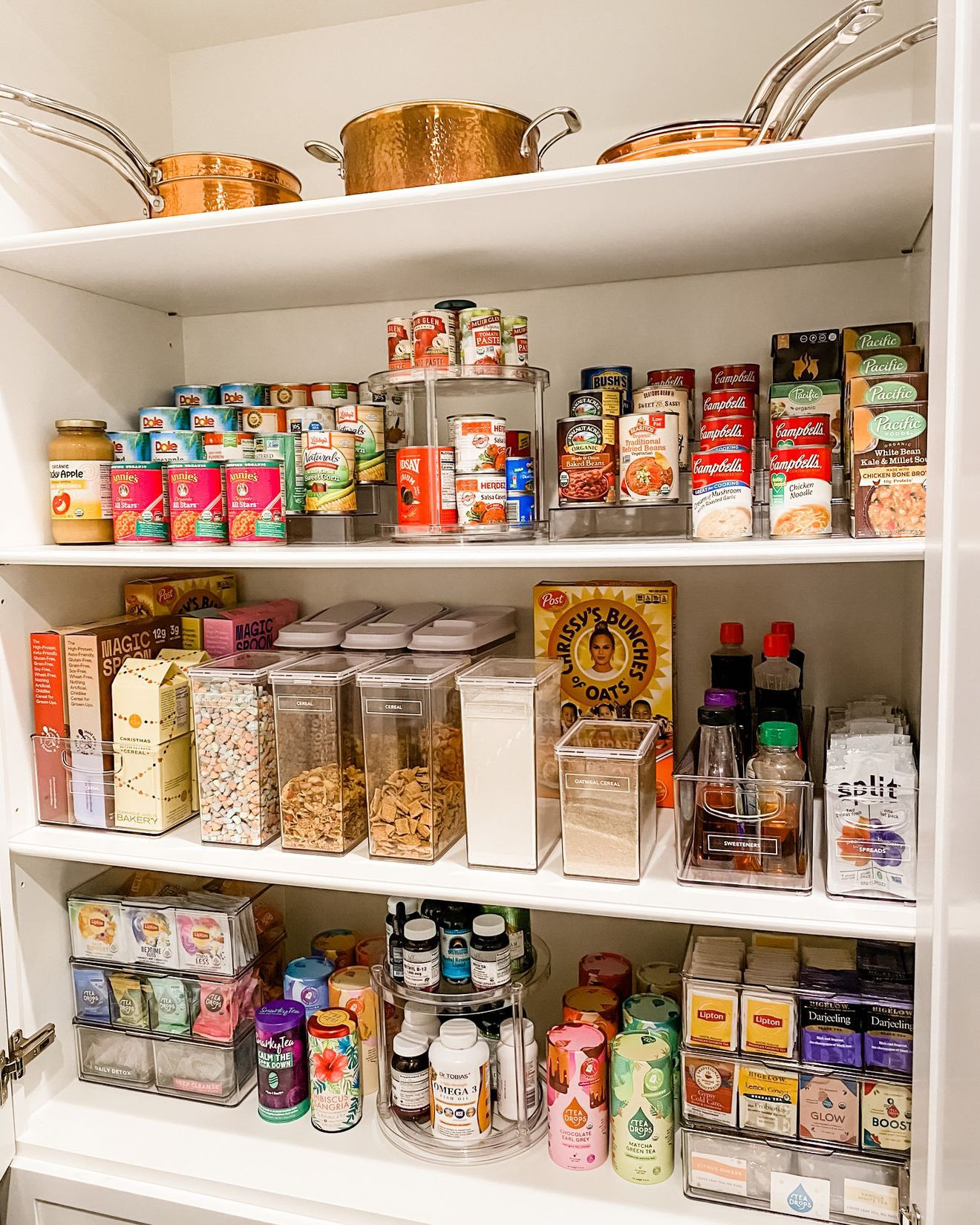 6 Things We Learned From Chrissy Teigen S Pantry Organizer Pantry Organization Pantry Inspiration Pantry Makeover