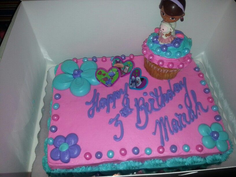 Doc Mcstuffin Cake Simple Yet Cute Zoe Grace Pinterest Doc