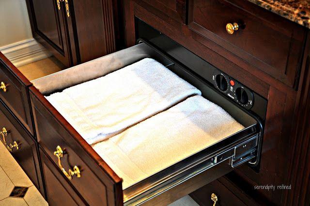 Master Bathroom Towel Warming Drawer By Serendipity
