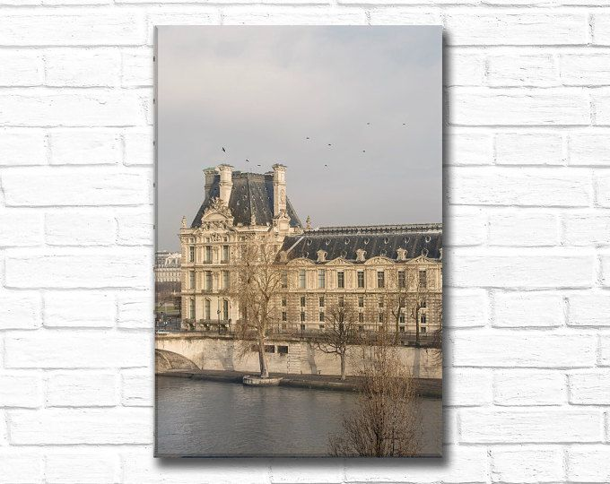 Paris Photography on Canvas - Le Louvre in Winter, Gallery Wrapped