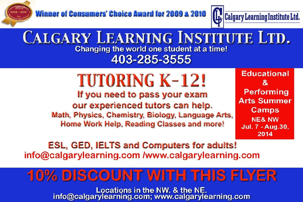 We Offer Tutoring For Elementary Junior High High School And