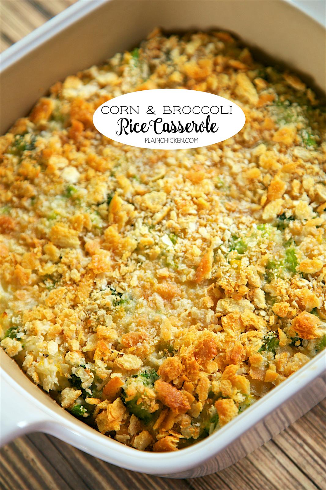 Corn And Broccoli Rice Casserole - So Simple And So -3053