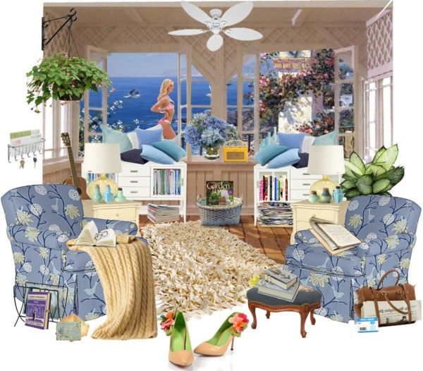"""""""Beachside Reading Nook"""" by summersunshinesk7 ❤ liked on Polyvore"""