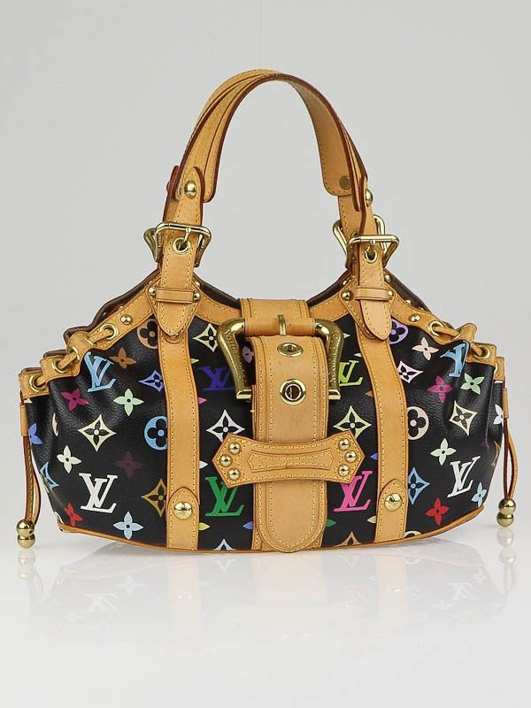 f070dd9ddb4c Louis Vuitton Black Monogram Multicolore Theda GM Bag