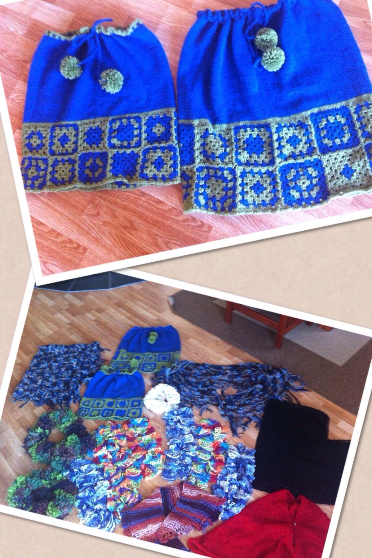 Crochet and knitting skirt