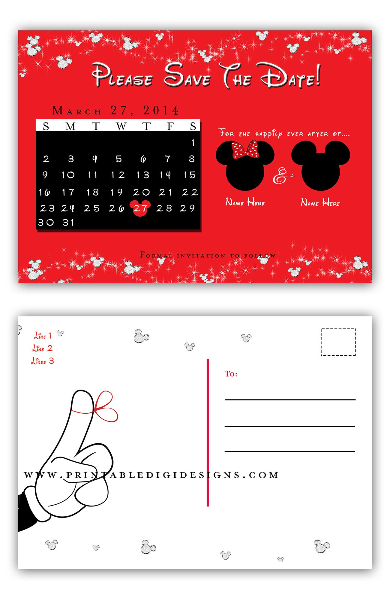 Disney World Disneyland Magical Mickey Double Sided Postcard Save ...