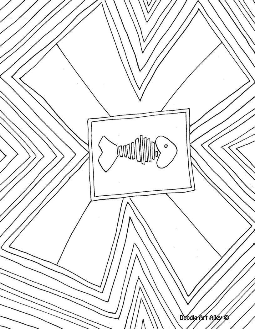 Letter Coloring Pages Doodle Art Alley Printables