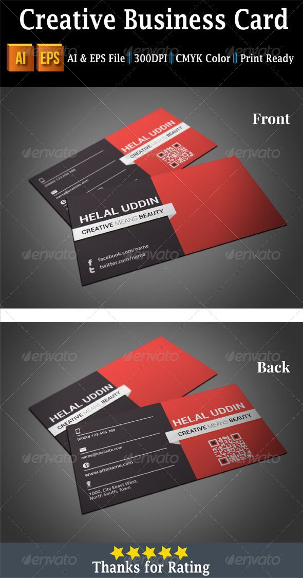 Creative business card business card template design pinterest creative business card business card template design pinterest business cards edit text and business reheart Images