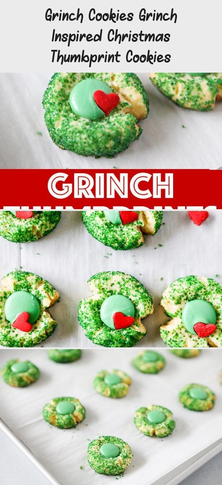 Grinch Cookies Grinch inspirierte Weihnachten Thumbprint Cookies #grinchcookies ... #grinchcookies