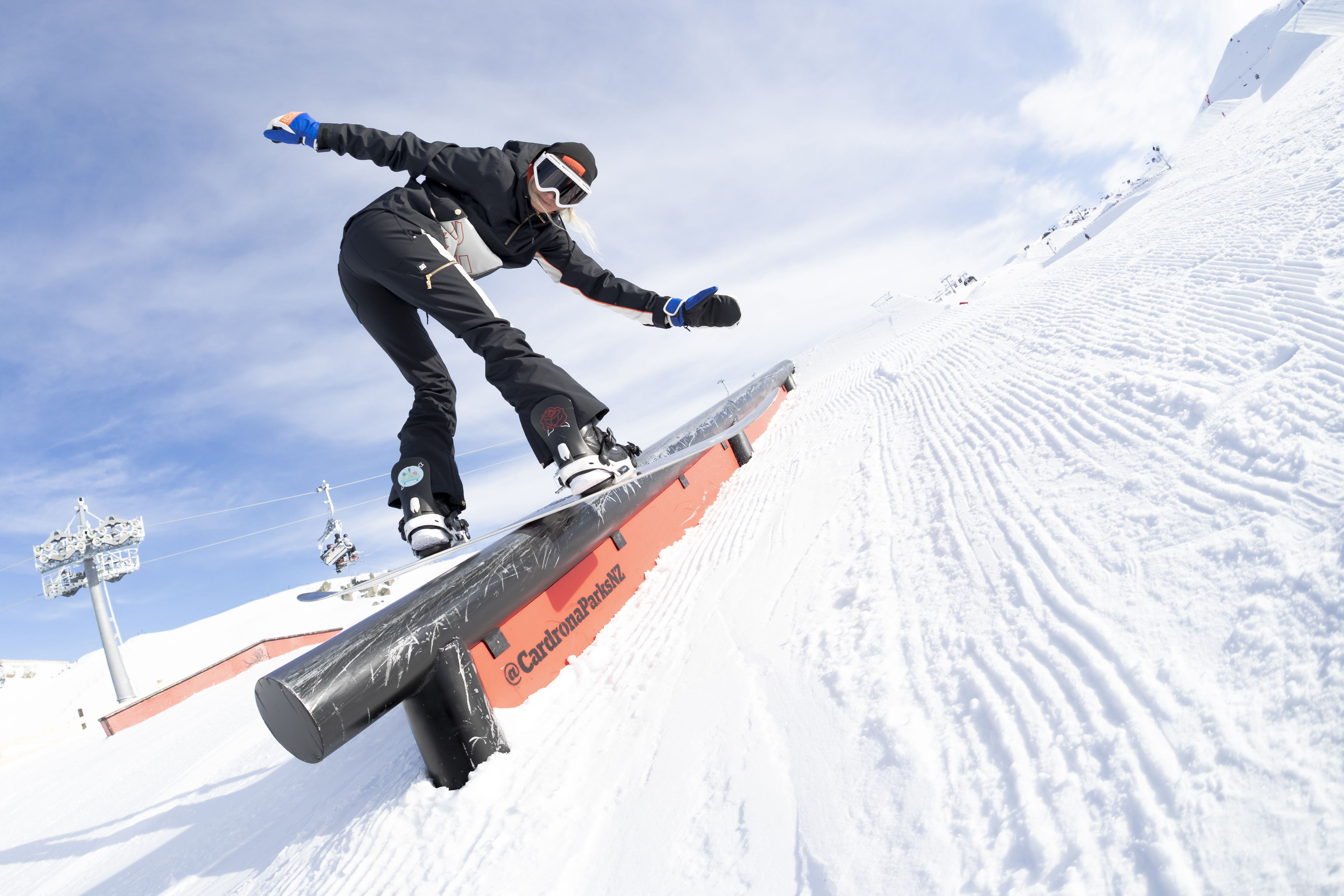 8378d160567 SNOW P.E Nation X DC Shoes collaboration. Professional Women s Snowboarder  Stefi Luxton hitting the slopes