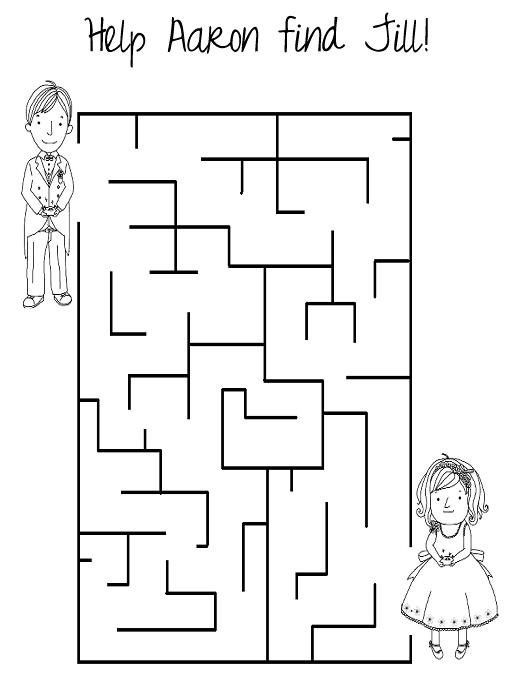Kids Activity Book Wedding Coloring Pages At The Reception Tic Tac Toe Word Search Etc